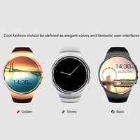 Golden/Black Remote Take Picture 240 * 240 pixels Bluetooth Smart Watch Phone KING WEAR KW18 Sim&TF Card Heart Rate Smartwatch