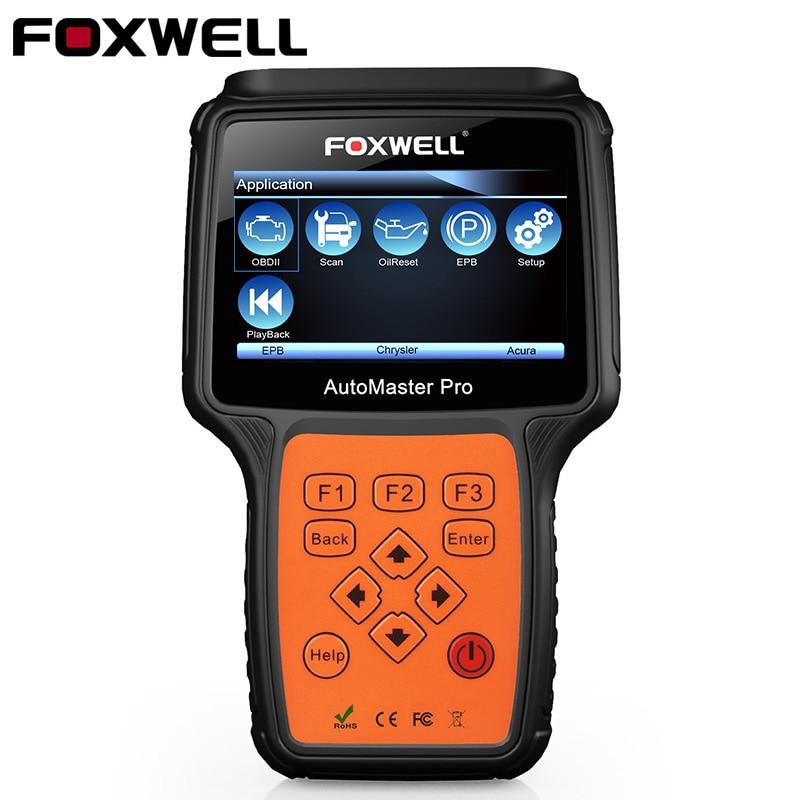 FOXWELL NT624 ODB2 Voiture Outil De Diagnostic Système Complet OBD2 Scanner ABS SRS EPB Service Huile Réinitialiser OBD2 Automobile Scanner
