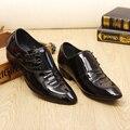 2016 Мода Кожа Мужчины Платье Обувь Повседневная Бренд Мужской Оксфорд Бизнес Натуральная Кожа Мужчины Обувь Оксфорд квартиры мужской офис zapatos