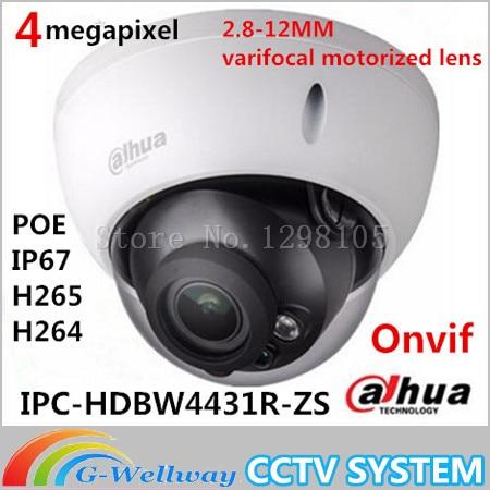 Original Dahua DH IPC HDBW4431R ZS IP Camera 4MP 2688 1520 Varifocal Motorized Lens Support POE