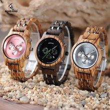BOBO BIRD Women Wooden Watches Orologio da donna Luxury Wood Metal Strap Chronograph Date Ladies Quartz Watch Timepieces bobo bird luxury women bamboo watches timepieces for men and women quartz wooden watch relogio feminino c d21