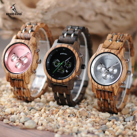 BOBO BIRD Women Wooden Watches Orologio da donna Luxury Wood Metal Strap Chronograph Date Ladies Quartz Watch Timepieces