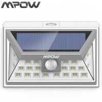 Mpow 24 LED Wireless Solar Powered Lighting Outdoor PIR Human Body Motion Sensor IP65 Emergency Wall Yard Patio Pathway Lampion