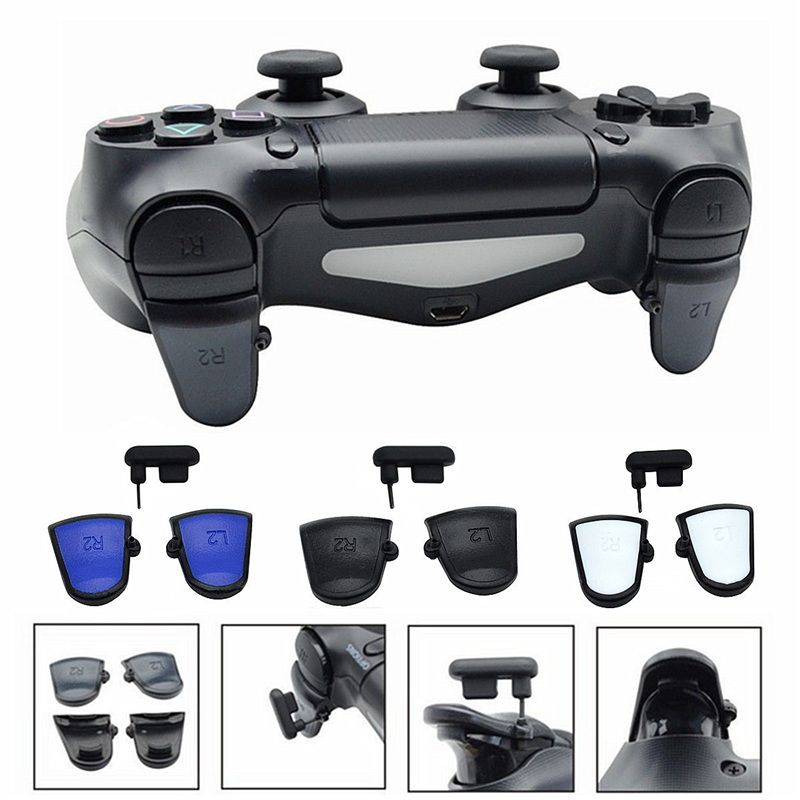 3 Colors L2 R2 Triggers Buttons Skidproof Adjustable Triggers for Playstation 4 for PS4 for Dualshock 4 Replacement parts yuxi bumper triggers buttons replacement plastic