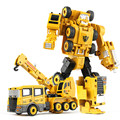 Mejor Regalo de Los Cabritos Divertidos 5 en 1 Robot Transformación Devastator Coches de Juguete Minifigures Figuras de Acción Juguetes para Los Niños