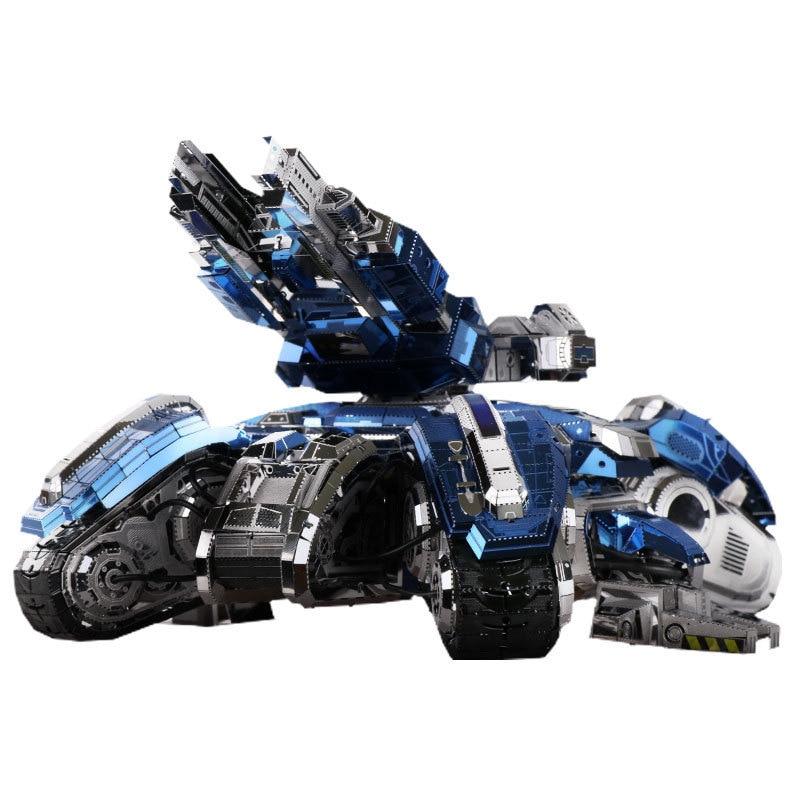 MU 3D Metal Puzzle Siege Tank Joint Movable Model DIY 3D Laser Cut Assemble Jigsaw Toys Desktop decoration GIFT For Audit