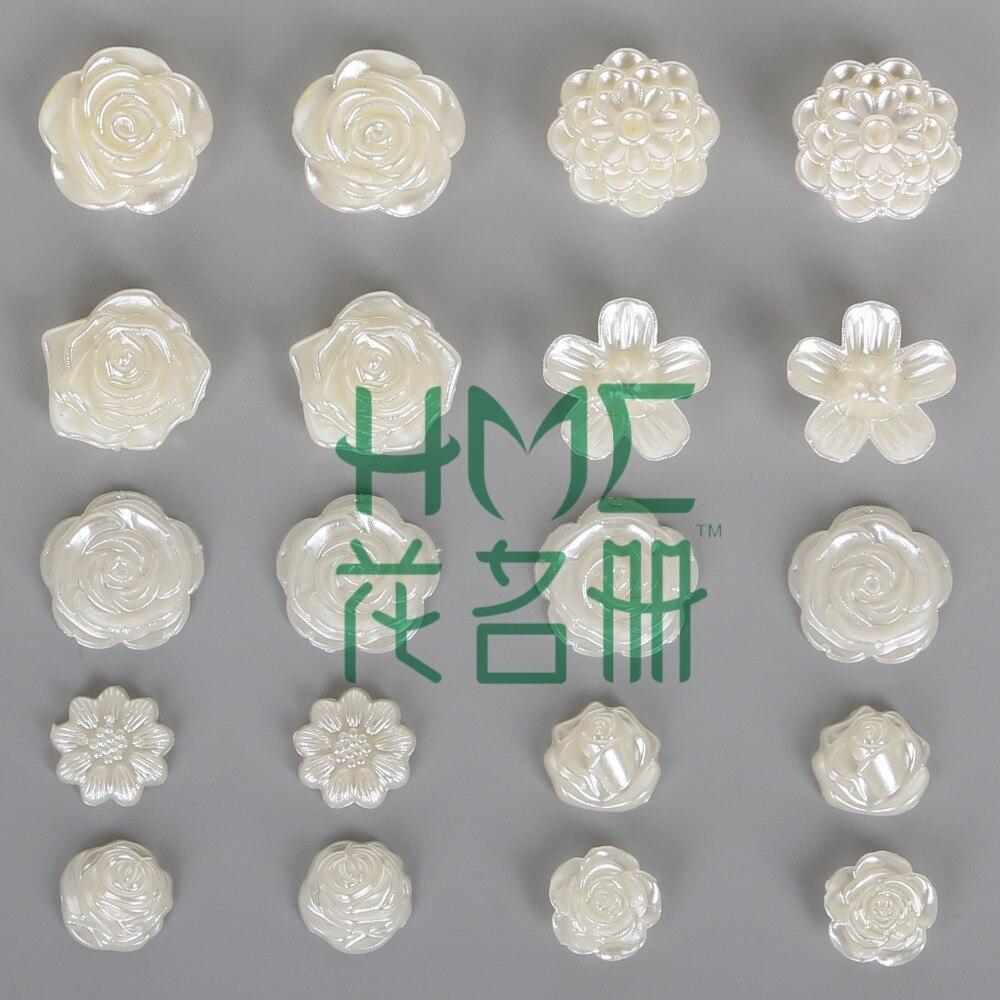 60-300 шт./пакет плоской задней кабошон Imatation Пластик ABS жемчужина цветок для DIY бусины Craft телефон украшения