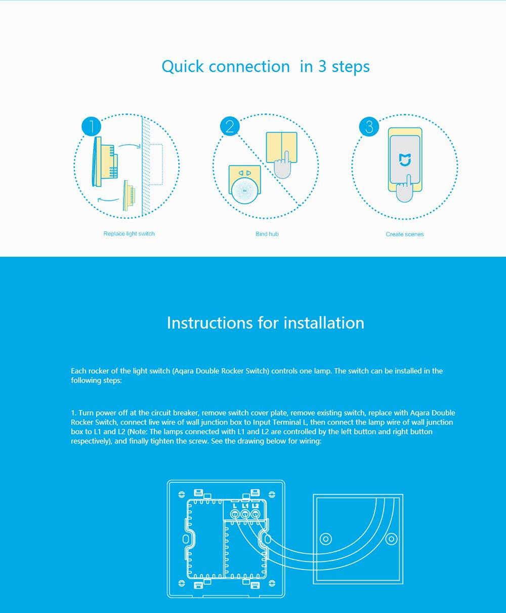 Xiaomi Aqara Smart Home Light Switch Zigbee Wireless Wall Via Led Pwm Tubelight Circuit Atomizer Coil Temperature Controller Usd 4799 5039 Piece