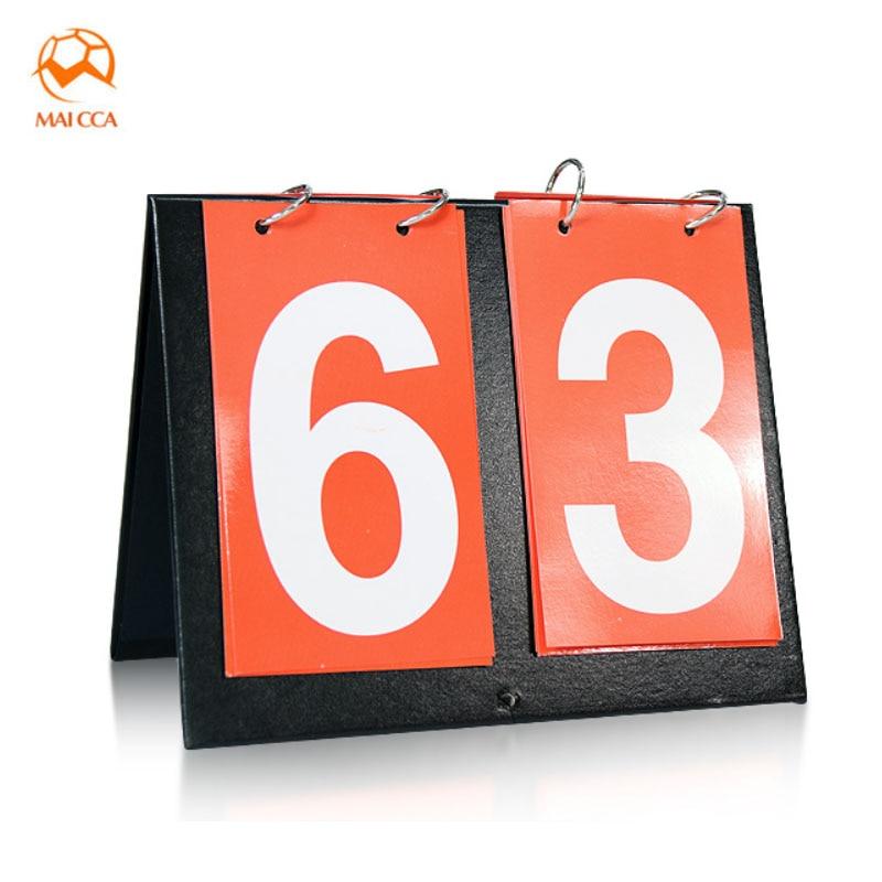 MAICCA scoreboard 2 digit For Table tennis Football score board Portable tennis Cloth Sports referee scoreboards
