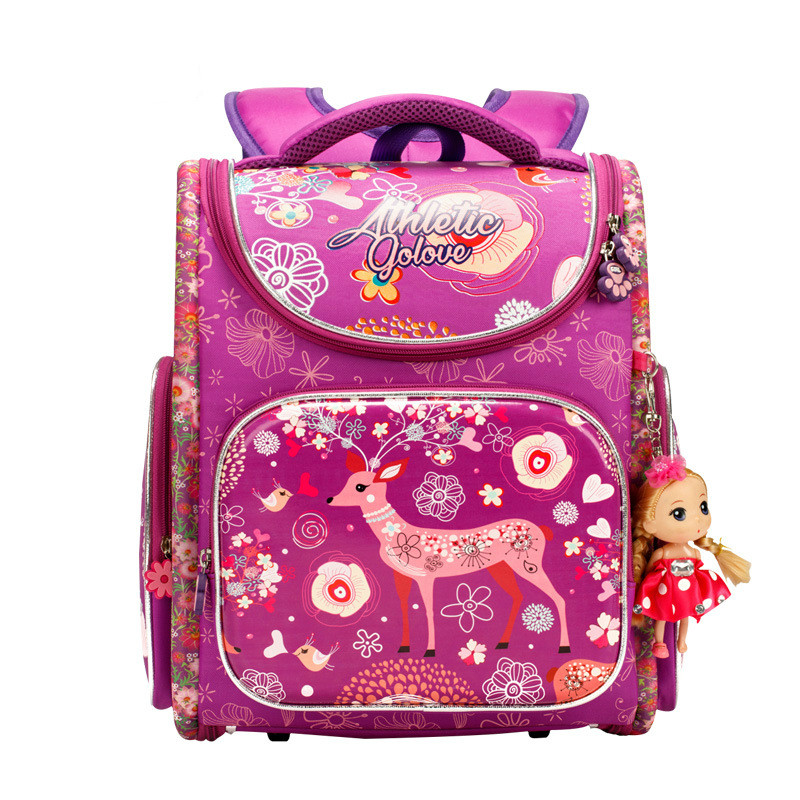 Top Quality Children School Bags for Girls Boys Waterproof Orthopedic kids Backpacks floral School Book Bag Mochila Escolar 16 inch new fashion kids spiderman primary school bags for girls boys cool children backpacks mochila escolar infantil book bag