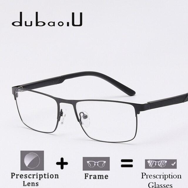 19c79c8262 Aleación hombres gafas graduadas hombres marca diseñador ordenador óptico  miopía anteojos recetados borde estrecho # HQ01-16