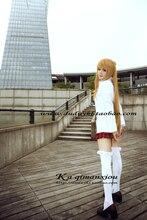 Envío gratis espada arte ALfheim Online Online Asuna Yuuki Anime capa blanca + falda del traje de Cosplay para el partido vestido para mujeres / hombres