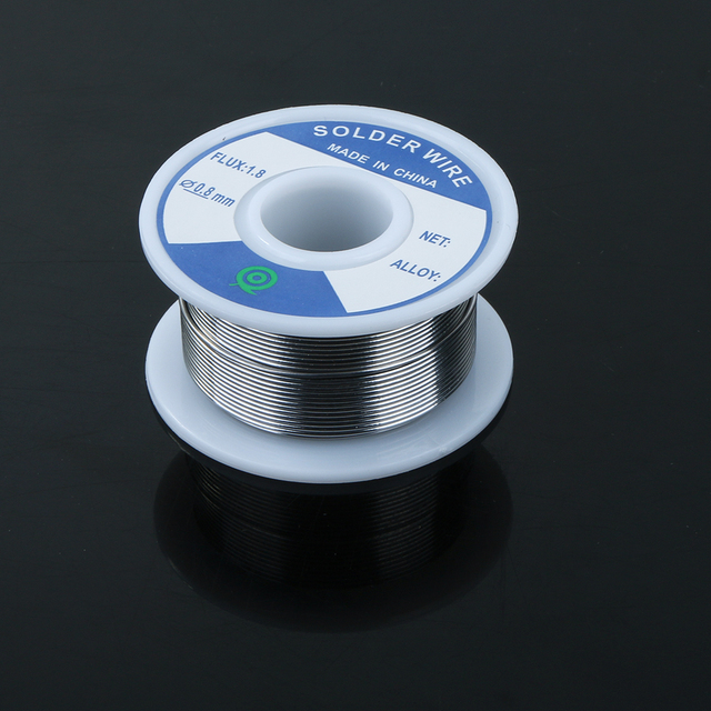 Lead-Free Tin Silver Solder Wire Flux 1.8 3% Silver 0.8mm Speaker DIY Material Solder Soldering Wire Roll 5