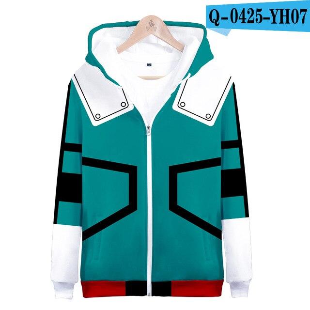 My hero academia hoodies izuku midoriya shouto todoroki boku no hero academia Cosplay Costume Sweatshirt boys girl Zipper Jacket 16
