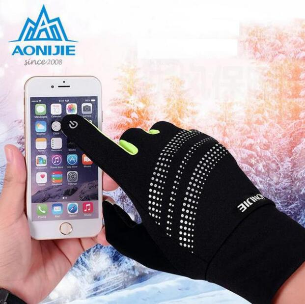AONIJIE Outdoor Sports Cycling Gloves Bicycle Cycling Gloves Windproof Thermal Winter Gloves Hot Touch Screen Gloves