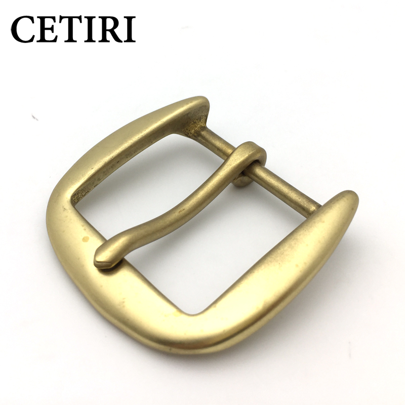 CETIRI Luxury Brand Solid Brass Belt Buckle With Metal Cowboy Belt Head Jeans Accessories Cosplay DIY For 4cm Wide Belt