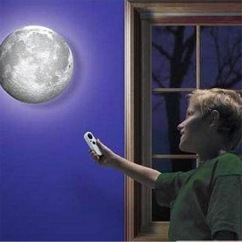 3D Healing Moon Lamp Remote Control Romantic Round Planet LED Battery Moon Night Light Mysterious Indoor Wall Lamp Home Fixtures keyshare dual bulb night vision led light kit for remote control drones