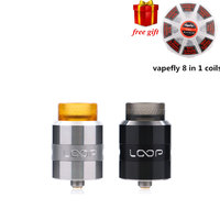 Free Gift RDA Geekvape Loop RDA 24mm RDA Vape With Unique W Shaped Build Deck Minimizes