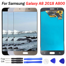 Super AMOLED LCD For SAMSUNG Galaxy A8 2015 Display Touch Screen A8000 A800 A800F Digitizer Phone Parts