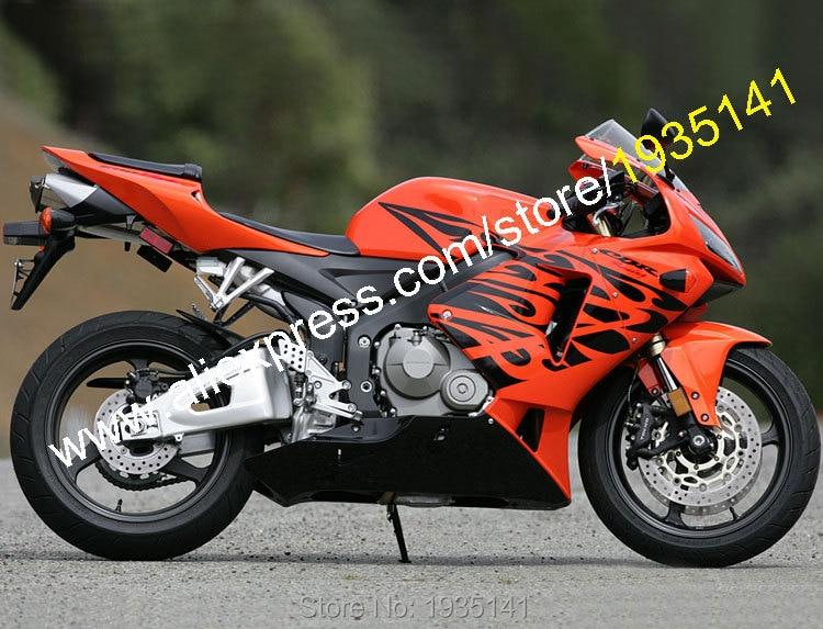 Hot Sales,Newest Fairing For Honda CBR600RR 2005 2006 CBR 600RR F5 05 06 Orange Black ABS Plastic Fairing (Injection molding) hot sales all white for honda vtr1000f 97 05 97 98 99 00 01 02 03 04 05 vtr1000 f vtr 1000 f 1000f 1997 2005 fairing