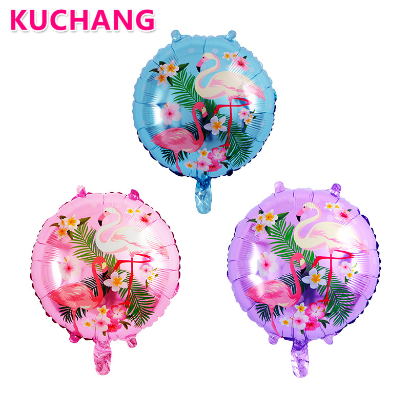 5pcs 18inch Flamingo Aluminum Foil Inflatable Helium Balloon Kids Adult Baloons Beach Pool Birthday Party Decoration Supplies