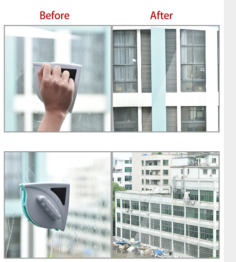 Double Side Magnetic Window Wiper Glass Cleaning Brush Tool For Home And Office 12