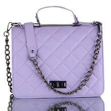 2016 Famous Brands Chain Crossbody Bag Women PU Leather Handbags Bolsa Feminina Vintage Diamond Lattice Messenger Shoulder Bags