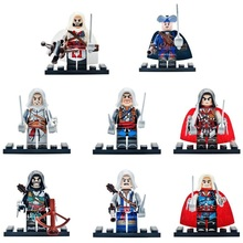 Hot Compatible LegoINGlys NinjaINGlys Assassins Creed figures With Weapons Action DIY Children Gift Toys