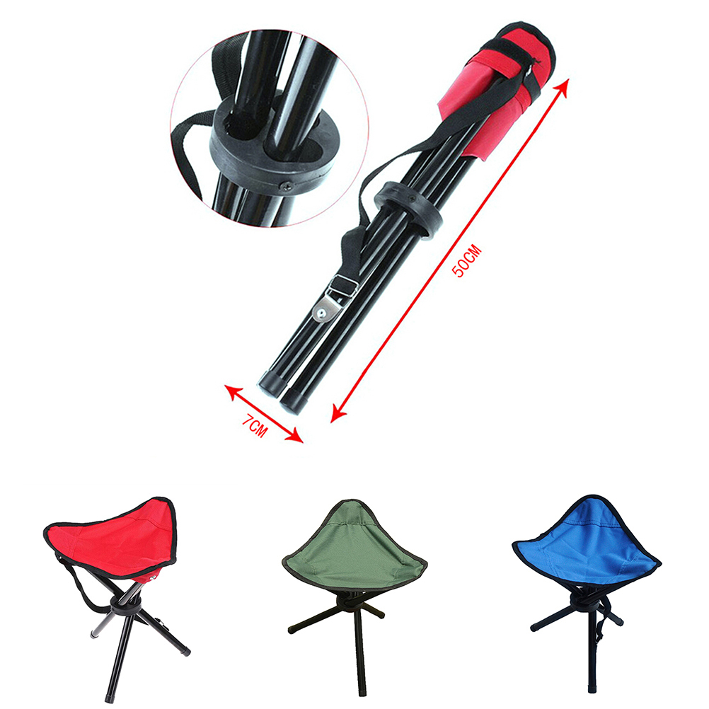1 PC Outdoor Fold Chair Camping Hiking 3 Legs Tripod Folding Stool Chair  Foldable Picnic Fishing Triangle Tripod Seat Ultralight In Fishing Chairs  From ...