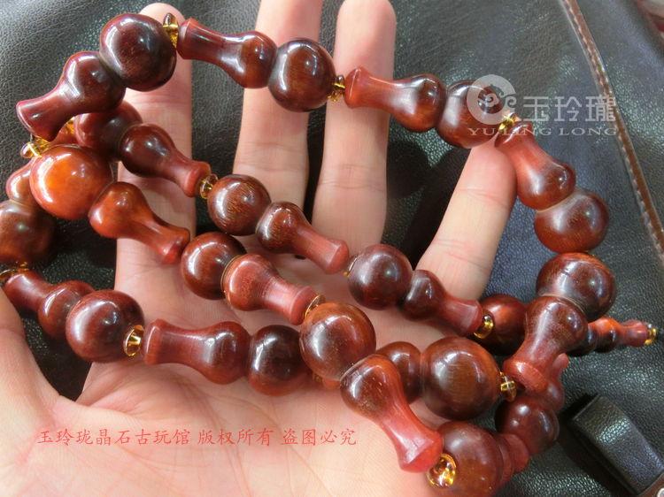Bracelet gourde corne de yak africaine corne sculpture sur petite gourde Bracelet collier gourde corne pendentif