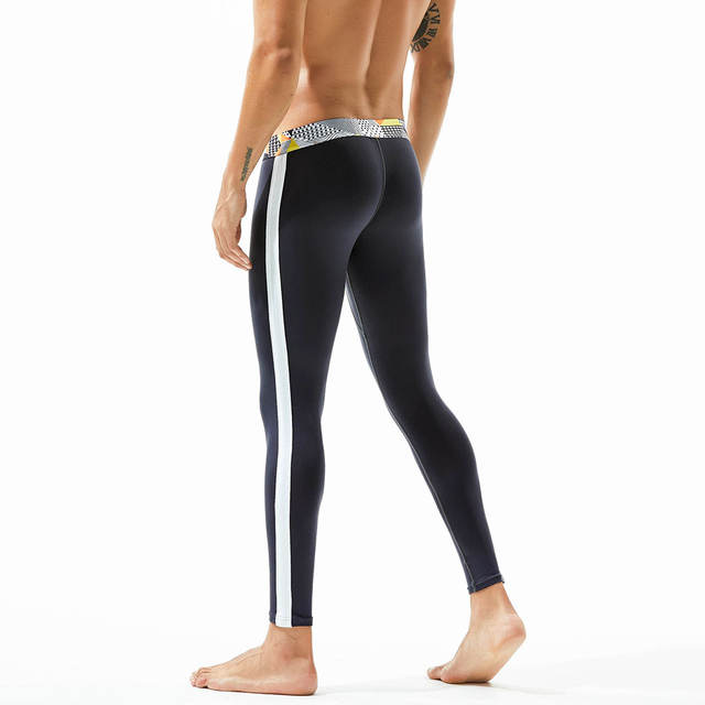2018 new Winter Men Fashion sexy Long Johns Cotton Thermal Underwear solid WarmTight Single Long Leggings Pants High Quality