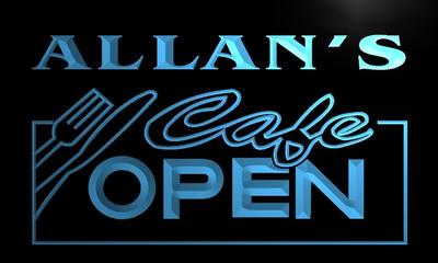 x0250-tm Allans Caf? Open Custom Personalized Name Neon Sign Wholesale Dropshipping On/Off Switch 7 Colors DHL