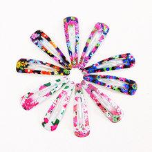 1Pack (10 12PCS) Drukuj geometryczne spinki do włosów barrettes Girls cute Hairpins kolorowe opaski na głowę dla dzieci Akcesoria do włosów tanie tanio PjNewesting Dziewczyny Moda Drukowania girls hair accessories Headwear Metal 7styles Headbands for women Hair Accessories for girls