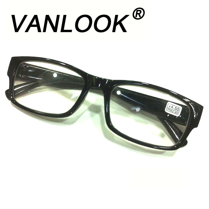 Frame Glasses Women's Degree Black Plastic Reading Glasses Frame for Degree +4.50 +5.00 +5.50 +6.00
