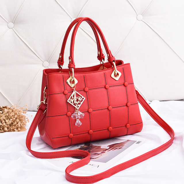 MONNET CAUTHY 2018 New Totes Elegant Fashion Concise Office Lady Handbags Solid Color Red Black Yellow Pink Khaki Crossbody Bags