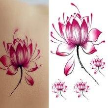 Pegatinas Mujer Flor De Loto Arte De Cuerpo Del Tatuaje Compra