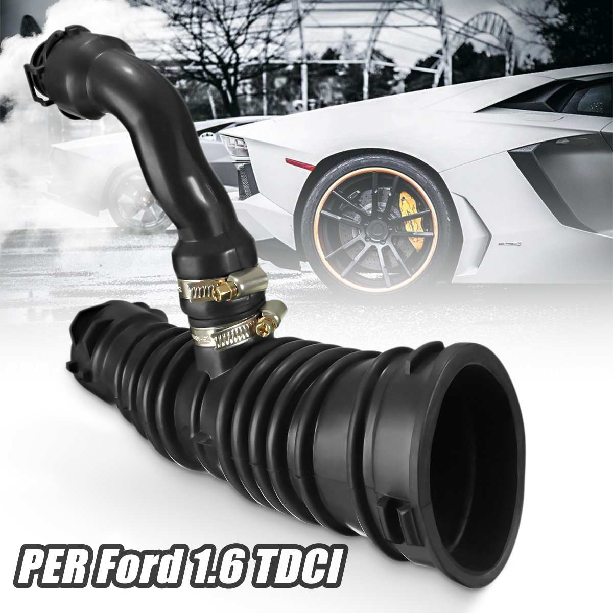 New For FORD For FOCUS For C-MAX 1.6 TDCI AIR FILTER INTAKE HOSE FLOW PIPE 1336611 3M519A673MG
