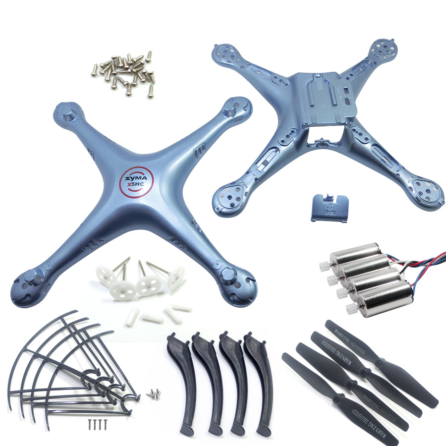 SYMA X5HC X5HW Spare Parts Shell Motor Propeller Main Blade Landing Gear Kit Protection Ring Frame rc Drone Accessory syma x5hc x5hw spare parts shell motor propeller main blade landing gear kit protection ring frame rc drone accessory