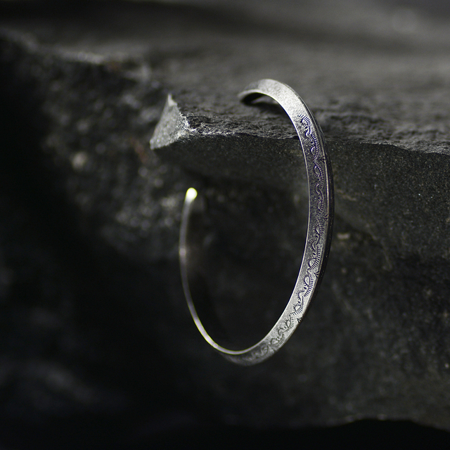 Bracelet rétro Viking acier inoxydable  5