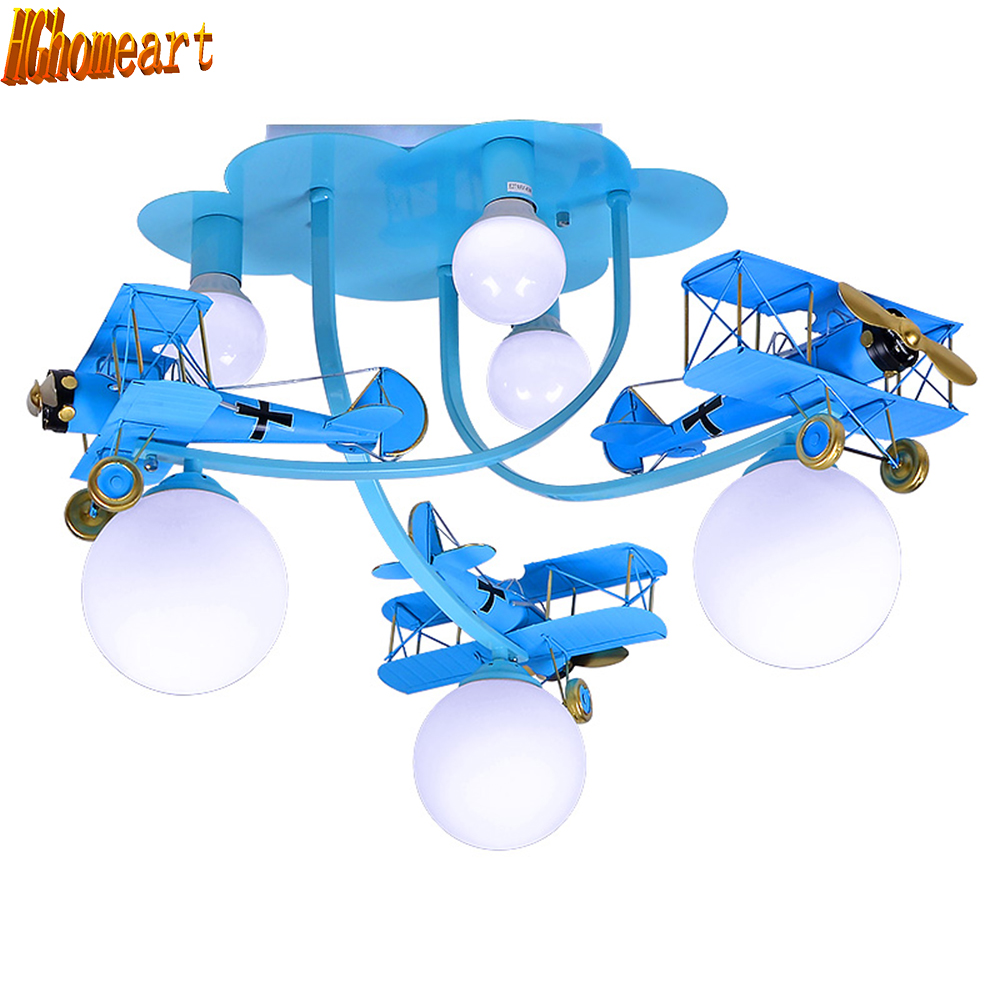 HGhomeart Kids Room Luminaria 110V-220V Blue 6 Head E27 Led Iron Chandelier Acrylic Lampshade Cartoon Chandeliers Lamp LightHGhomeart Kids Room Luminaria 110V-220V Blue 6 Head E27 Led Iron Chandelier Acrylic Lampshade Cartoon Chandeliers Lamp Light