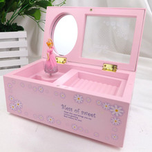 Storage Boxes Ballerina Lovely Girl Music Box Childrens Musical Jewellery Storage Box Romantic Rectangle
