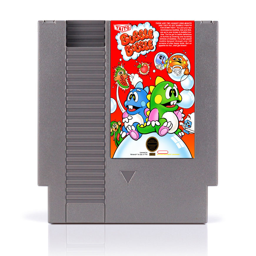 Bubble Bobble <font><b>72</b></font> <font><b>Pins</b></font> <font><b>Game</b></font> <font><b>Card</b></font> For 8 Bit <font><b>Game</b></font> Player image