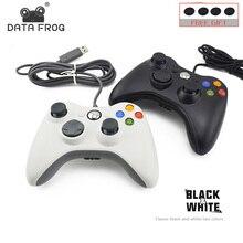 Данных лягушка проводной usb-геймпад для Xbox 360 контроллер Джойстик для microsoft PC контроллер с вибрацией для Windows 7/8/10