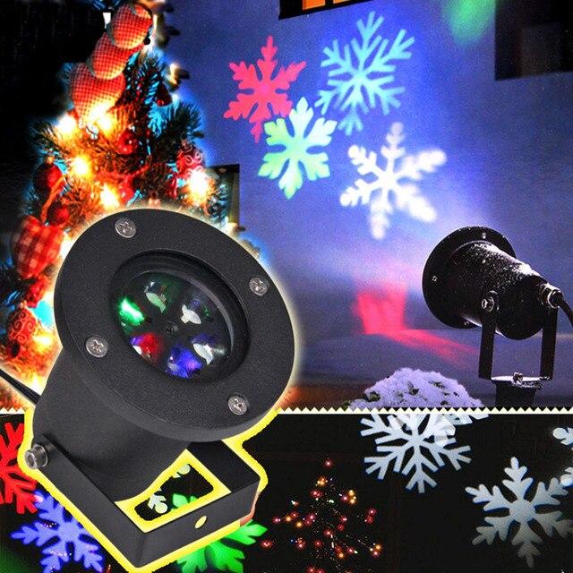 Рождество украшения свет этапа для отдыха и вечеринок день рождения лазер снежинка проектор Открытый Светодиодный проекционный фонарь нов...