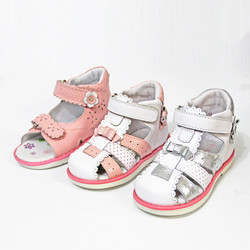 Good 1pair Baby Back hard girl Genuine Leather Orthopedic Children Sandals arch support Shoes,kids  Shoes