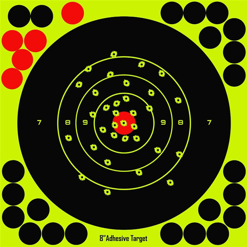 """Image 2 - Hunting 8"""" Reactive Splatter Self Adhesive target stickers Fluorescent Yellow shooting Practice stickers for Airsoft Gun Rifle-in Paintball Accessories from Sports & Entertainment"""