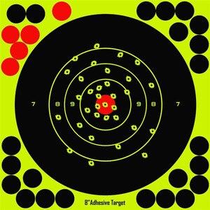 """Image 2 - Jagd 8 """"Reaktiven Splatter Selbstklebende ziel aufkleber Fluoreszierende Gelb schießen Praxis aufkleber für Airsoft Gun Gewehr"""