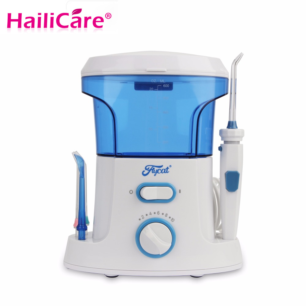 New Dental Floss Water Oral Flosser Portable dental Irrigator Care 7pcs Tips Electric Oral Teeth Cleaning Water Pick Tank 600ml