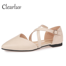 Spring pointed flat shoes ladies low Bangfu casual womens office fashion C0638