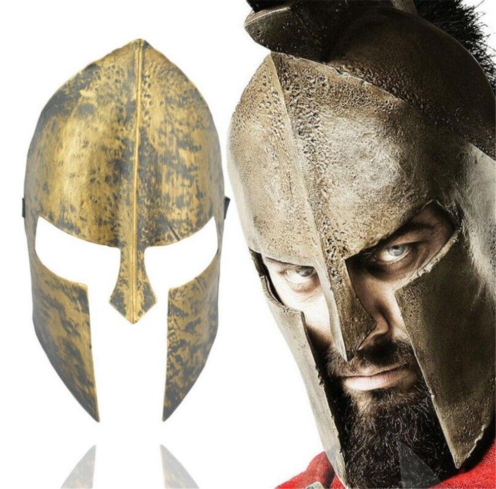 Halloween Party Spartan Theme Spartan Warrior Helmet Mask Decoration Adult Cosplay Masquerade Ball Sport Headband A2239c